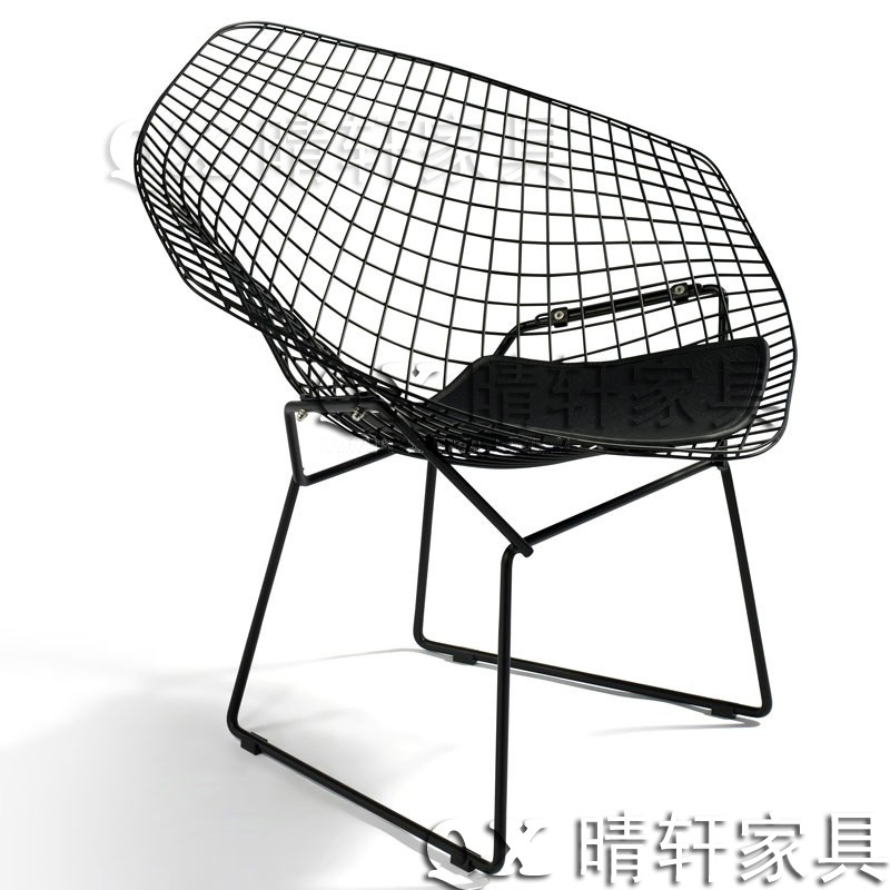 steel net chair p kolino table and chairs british industrial retro diamond wire mesh leisure plated stainless coffee metal outdoor negotiations in shampoo from