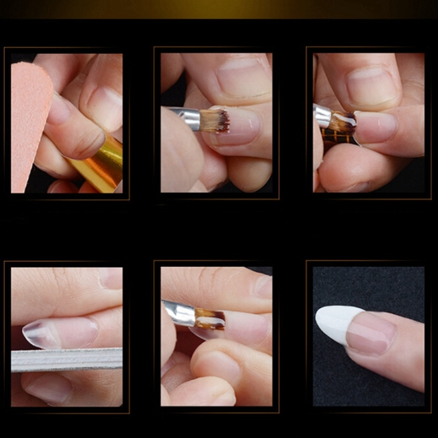 18ml Nail Art French Diy Gum Poly Gel Clear Natural Camouflage Color Fibregl Hard Jelly