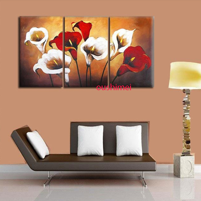 Handmade Modern Abstract Beautiful Flowers Wall Art Calligraphy Home Decorative Hand Painted Artwork Flower Canvas Oil Painting