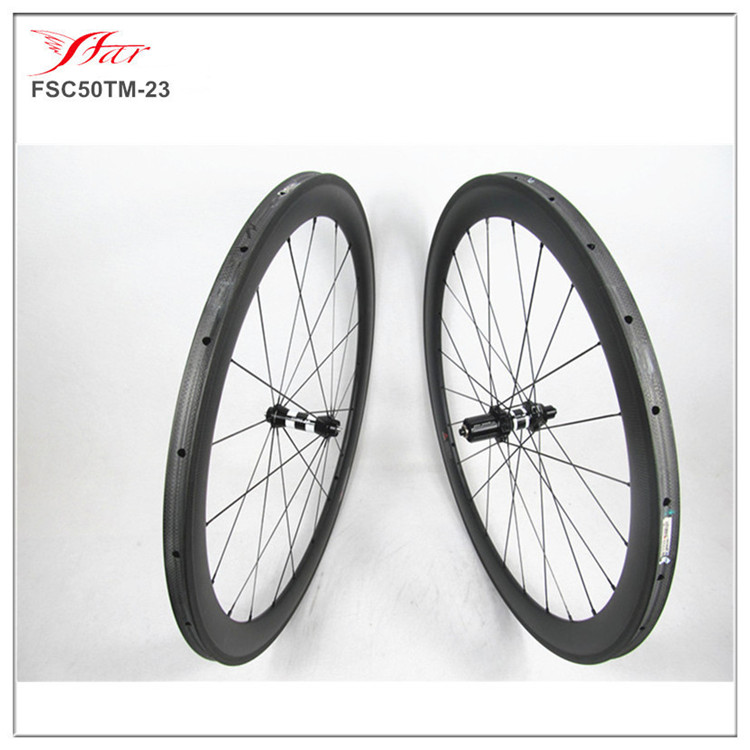 <font><b>DT</b></font> 350S <font><b>HUBS</b></font> road wheels with Sapim cx-ray spokes , Farsports 50mm x 23mm width carbon road wheels tubular , light weight 1331g