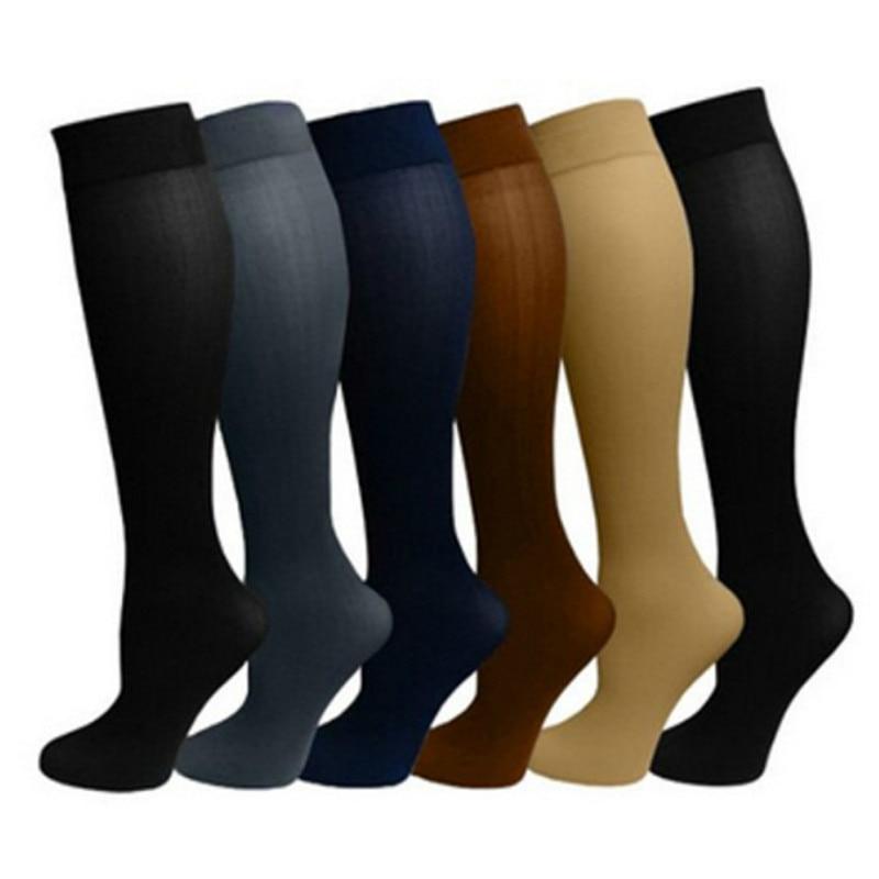 1 Pair Antifatigue Unisex Compression Socks Flight Travel Anti-Fatigue Knee High Stockings Magic Sock Womens Men's Miracle Socks