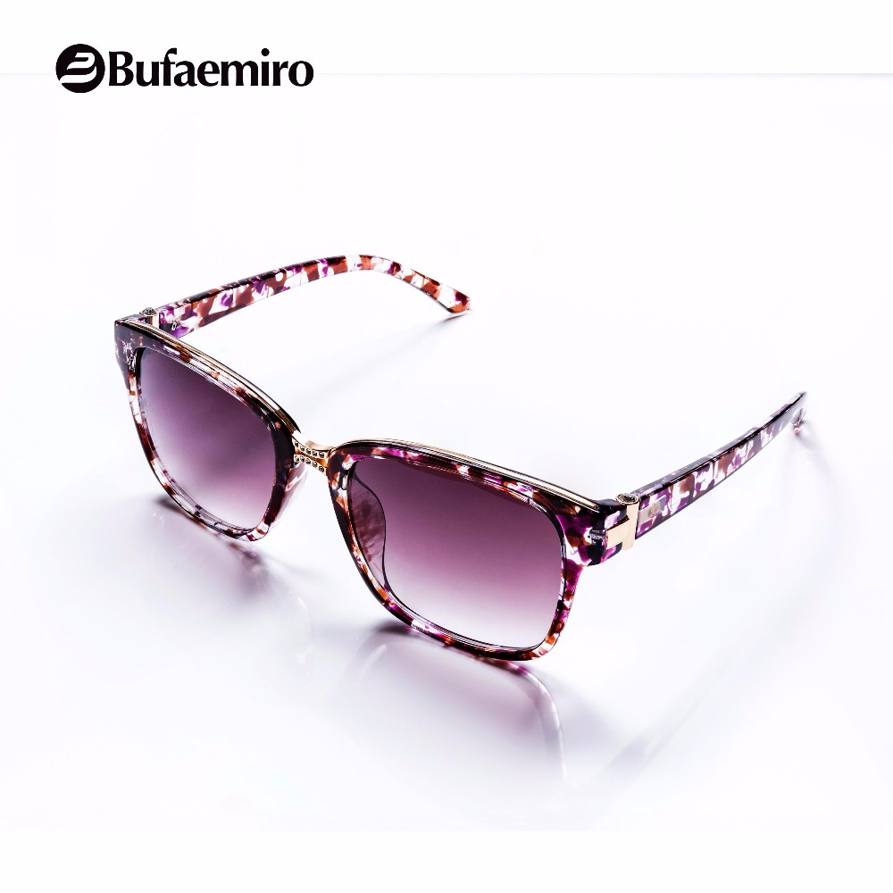 Bufaemiro Polarized Fashion Square Elegant Vogue Sun Glasses Dimond Design Show Shopping Decoration Women UV 400 Eyewear 7002
