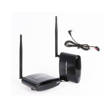 HBUDS 2.4GHz 350M Wireless AV Sender TV Audio Video Transmitter Receiver With IR Remote PAT-260 Black