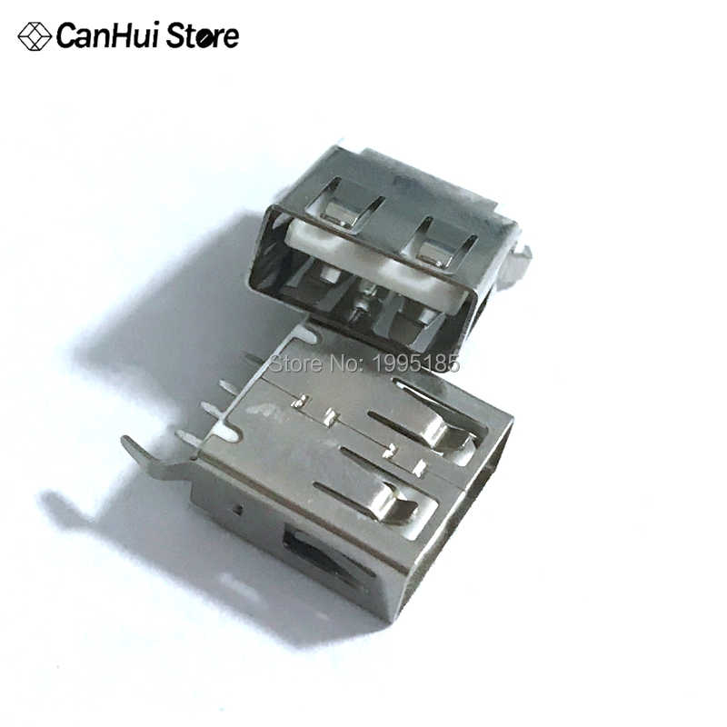 10/20 PÇS/LOTE AF de 180 Graus Vertical Comprimento de Dobra 13.7mm Pés Conector USB Fêmea USB-A Fêmea Tipo 2.0 Borda plana