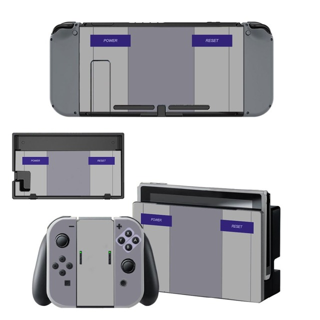 Gray Vinyl Decal Sticker Nintend Switch Skin Stickers for Nintendo Switch Console and Controller Skins