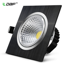 Dimmable LED Downlight Square 7W 9W 12W 15W 85-265V COB LED Ceiling DownLights Dimmable COB Spot Recessed Down light Light Bulb цена 2017