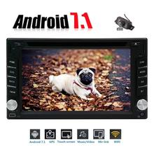 "Camera+6.2"" Android 7.1 Double Din 8 Core WIFI Car DVD Player Stereo GPS Navigation support Bluetooth Mirror Link/USB/SD/OBD"