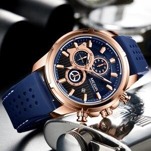 Image 3 - Megir Top Merk Heren Analoge Quartz Sport Horloges Mannen Luxe Horloge Mode Siliconen Waterdicht Polshorloge Mannelijke Klok