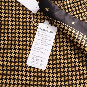 Image 5 - [Bysifa] Mannen Zwarte Goud Zijde Sjaals Winter Mode Accessoires 100% Natuurlijke Zijde Mannelijke Plaid Lange Sjaals Das 160*26Cm
