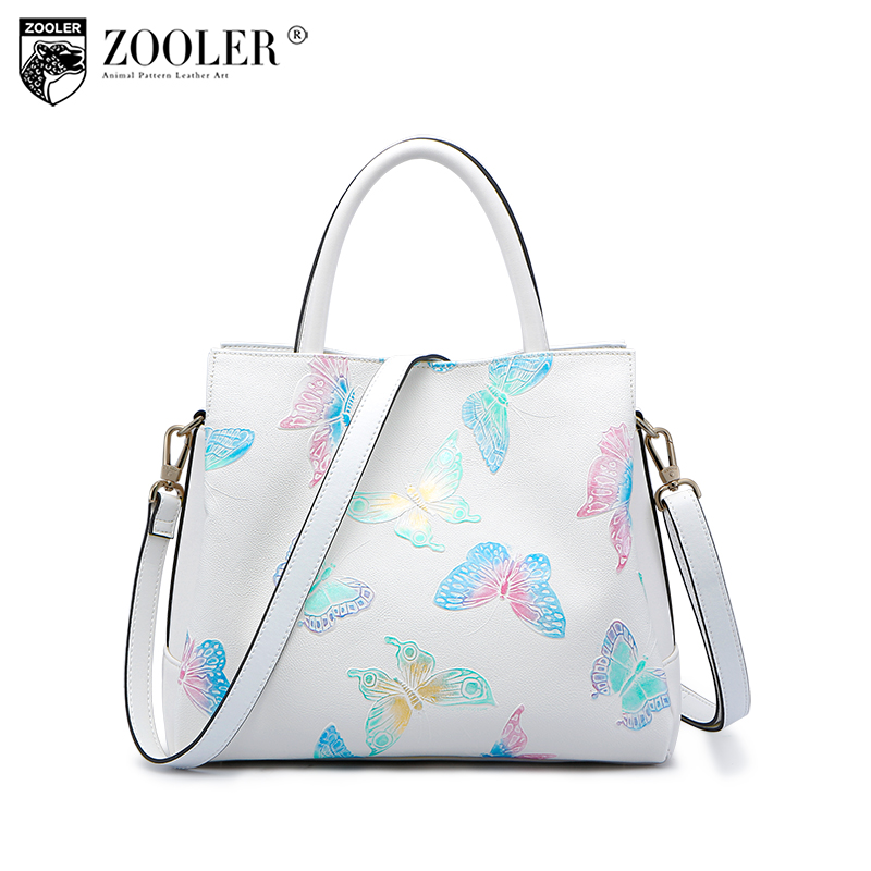 ZOOLER 2018 New Arrival Genuine Leather Bags Woman Handbags Top-Quality Fashion Design Ladies Shoulder Bags Large Capacity 2960