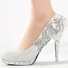 Wedding Shoes Glitter Gorgeous Bridal Evening Party