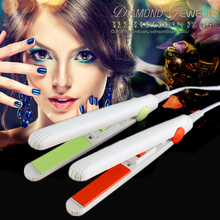 Ceramics tourmaline professional flat irons creating a smooth and curly hair in an instant hair straightener US plug M02352