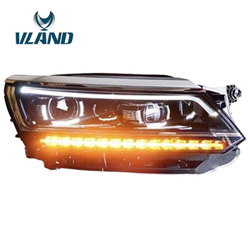 Vland Factory Car Accessories Head Lamp for Volkwagen Passat B8 2017-2018 LED Headlight with LED Moving Singal