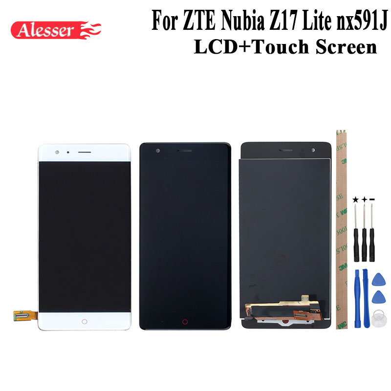 Alesser For ZTE Nubia Z17 Lite nx591J LCD Display and Touch Screen Assembly Repair Parts +Tool +Adhesive For ZTE Z17 Lite nx591JAlesser For ZTE Nubia Z17 Lite nx591J LCD Display and Touch Screen Assembly Repair Parts +Tool +Adhesive For ZTE Z17 Lite nx591J