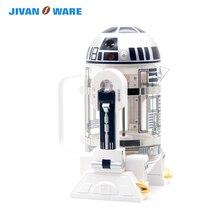 JIVANWARE Звездные войны Робот Творческий Френч-пресс домашний мини-Френч-пресс эспрессо черный Кофе ручной Кофе горшок