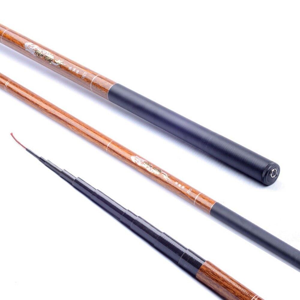 3.6m 4.5m 5.4m 6.3m 7.2m Ultralight Stream Hand Pole Carbon Fiber Casting Telescopic Fishing Rods Fish Tackle Tools