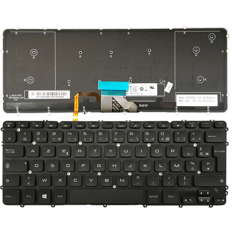 New French Laptop keyboard for Dell Precision M3800 XPS 15 9530 FR keyboard with backlit russian keyboard for dell xps 15 9560 ru black with backlit