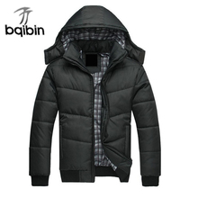 2017 New Arrival Casual Hooded Parkas Black Winter Jacket Men Warm Thick Coat Parka Men Outwear Casaco Jaqueta Masculina