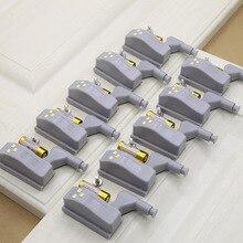 رائجة البيع تحت إضاءة LED للخزانة المفصلي ضوء العالمي المطبخ غرفة نوم غرفة المعيشة دولاب خزانة الداخلية السيارات التبديل ضوء 10 قطعة