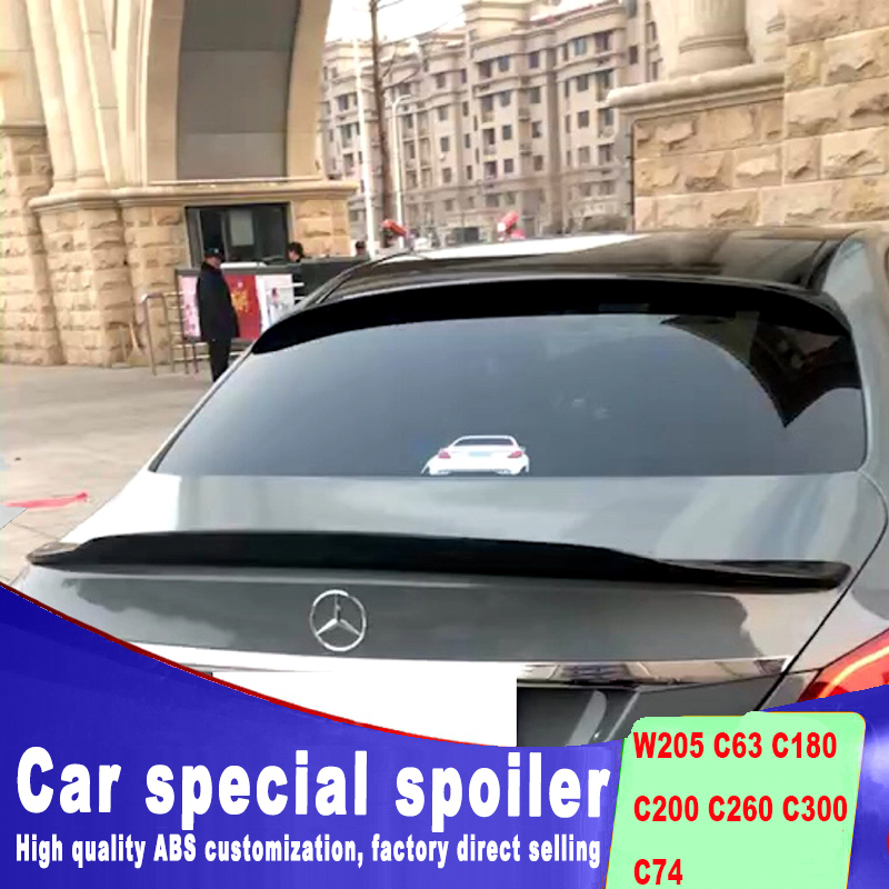rear window roof spoiler for benz W205 c63 C180 C200 C260 C300 C74 high quality spoilers by primer or black white paint color
