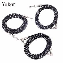 Yuker 6M Electric Guitar Bass Cable Oxygen Free Copper connecting lines musical instrument connector wire Audio
