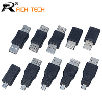 10PCS Full Set USB Connector USB Male To USB Female Micro OTG MINI OTG USB Female
