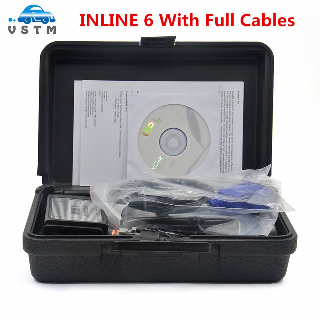 Free Ship INLINE 6 Data Link Adapter Heavy Duty Diagnostic Tool Scanner Full 8 cable Truck interface inline6 inline 5 2018