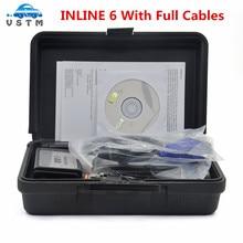 Freies Schiff INLINE 6 Daten Link Adapter Heavy Duty Diagnose Werkzeug Scanner Volle 8 kabel Lkw interface inline6 inline 5 2018