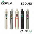 100% original Joyetech EGo Aio Kit 0.6ohm 1500mah tube mod e cigarette kit with 2ml atomizer with built in battery Anti-leaking