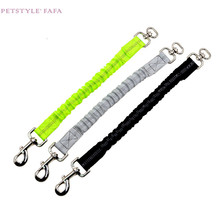 dog collar Pets Acessorios hot selling Traction Fluorescent  Extension Rope Reflective Elastic Leash Extended 0509
