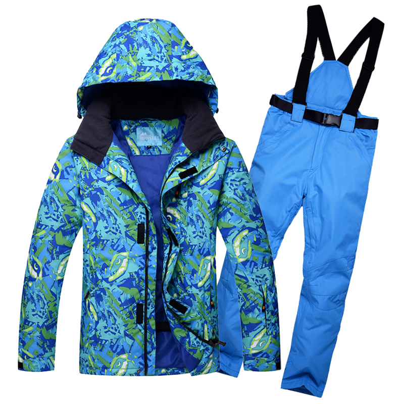 2018 New Men Outdoor Thermal Winter Ski Suit Waterproof Windproof Snowboard Jackets And Pants Climbing Snow Skiing Clothes hot top quality womens skiing suit sets windproof waterproof thermal snowboard jackets and pants girl winter cotton snow dress