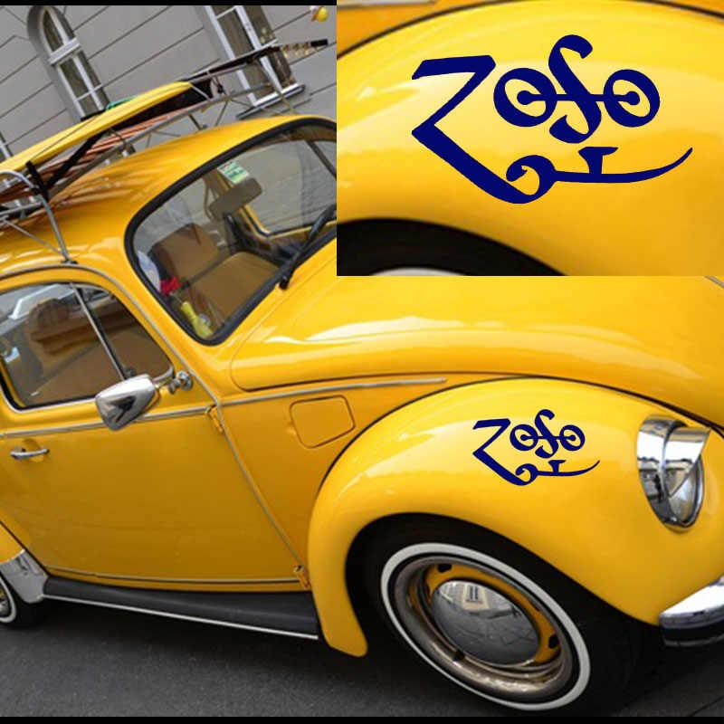Hotmeini 15 سنتيمتر x 12 سنتيمتر zoso رمز ملصقا السيارة لشاحنة النافذة الوفير السيارات suv الباب محمول كاياك الفينيل صائق 9 أسود/الشظية