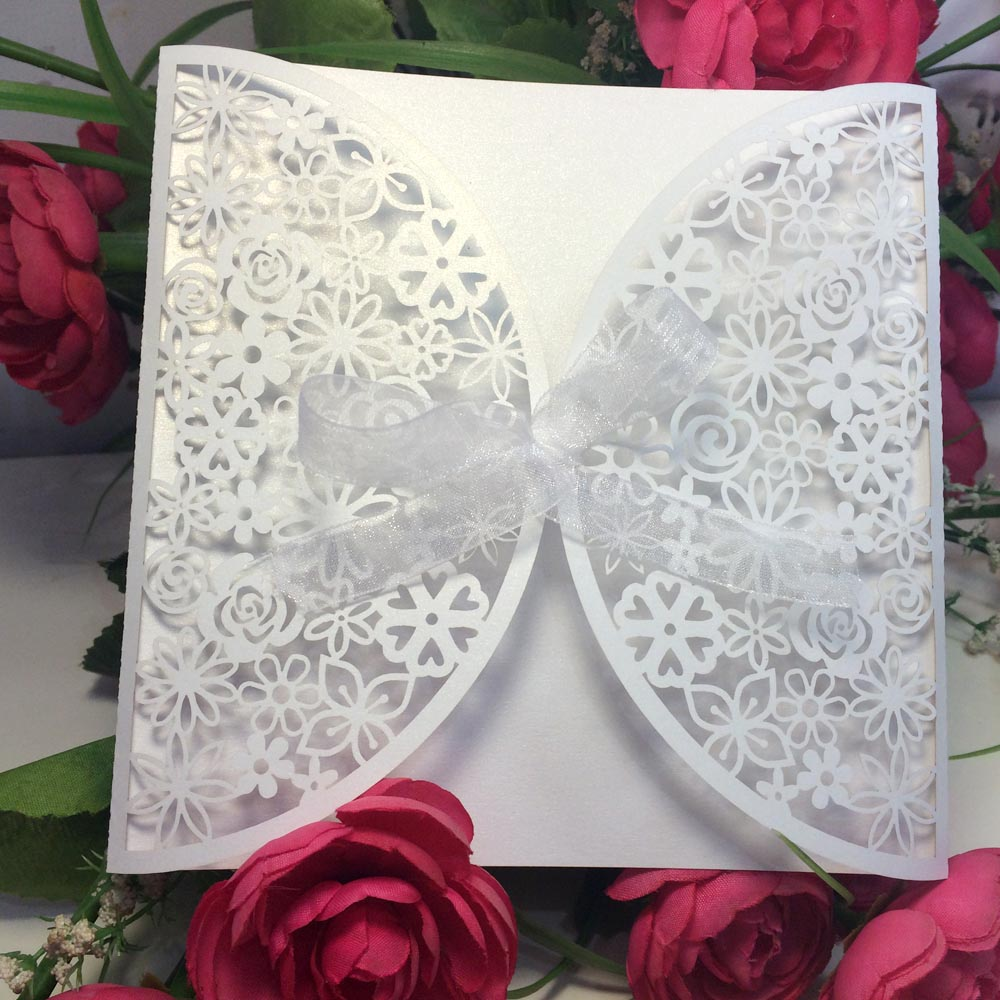 10 Pcs/Set Wedding Romantic Card Invitation Party Invitation Cards ...