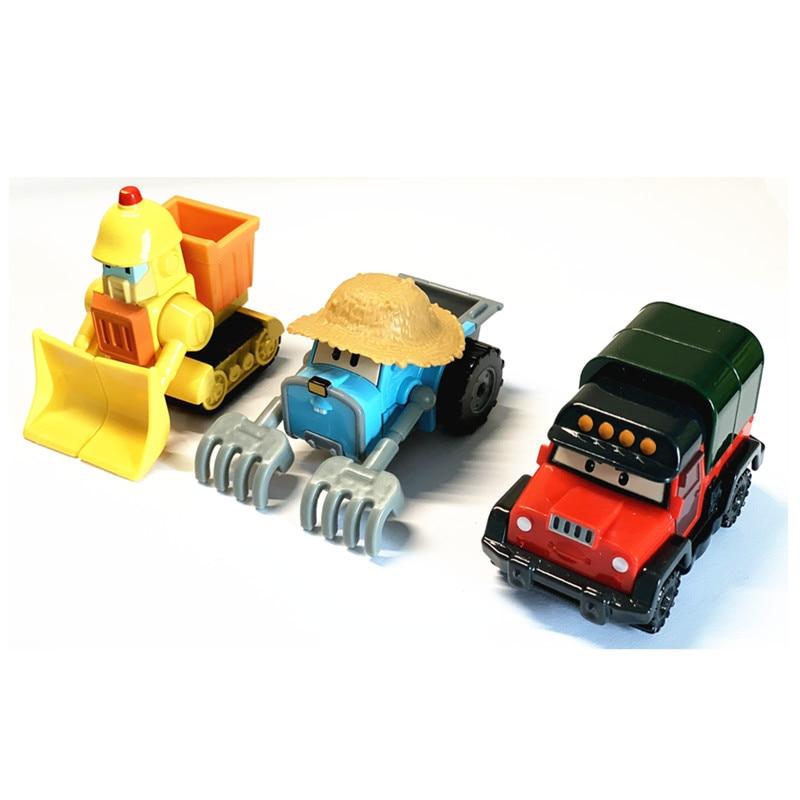 6pcs set robocar poli anime action figure transformation robot car toy korea poli robocar kids toys Hot Sale 3pcs/set Robocar Poli Toy Metal Model Robot Car Toys Poli Robocar Korea Toys Best Gifts For Kids Toys