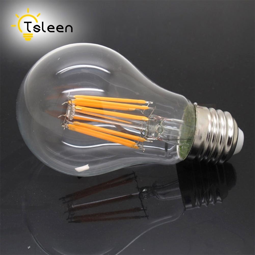buy tsleen e27 led lamp 4w 8w 12w 16w vintage edison cob filament home lighting. Black Bedroom Furniture Sets. Home Design Ideas