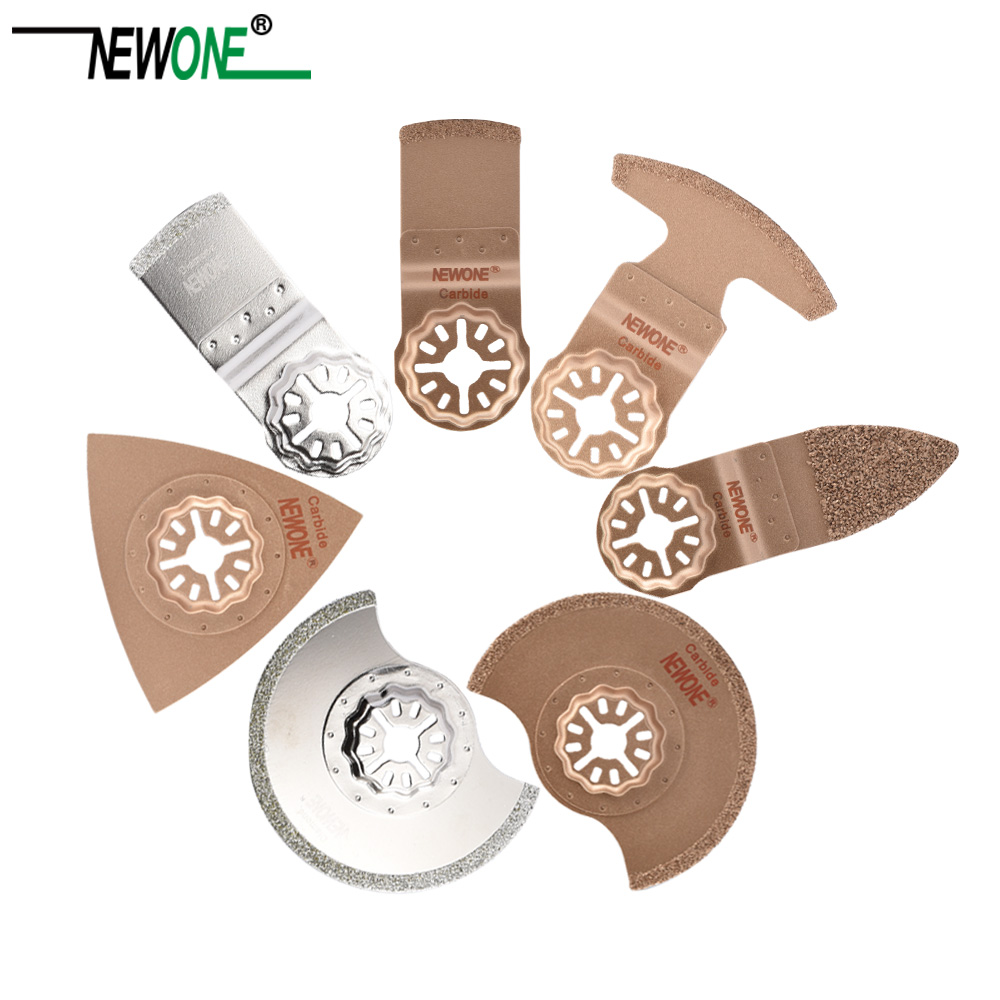 NEWONE Saw-Blades Diamond Oscillating Multi-Tool Starlock-Type Circular Carbide Rasp