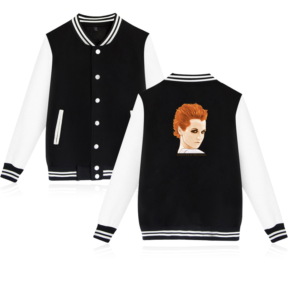 The Cranberries Dolores ORiordan R.I.P. Baseball Jacket Men/Women Uniform Coat Jacket Long Streetwear College Coat