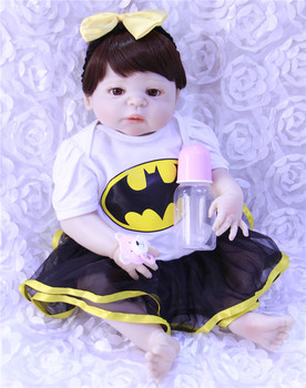 "New design 55cm full Silicone Doll Reborn Baby 22"" Toy For baby Newborn Baby Birthday Gift For Child Bedtime Early Education"