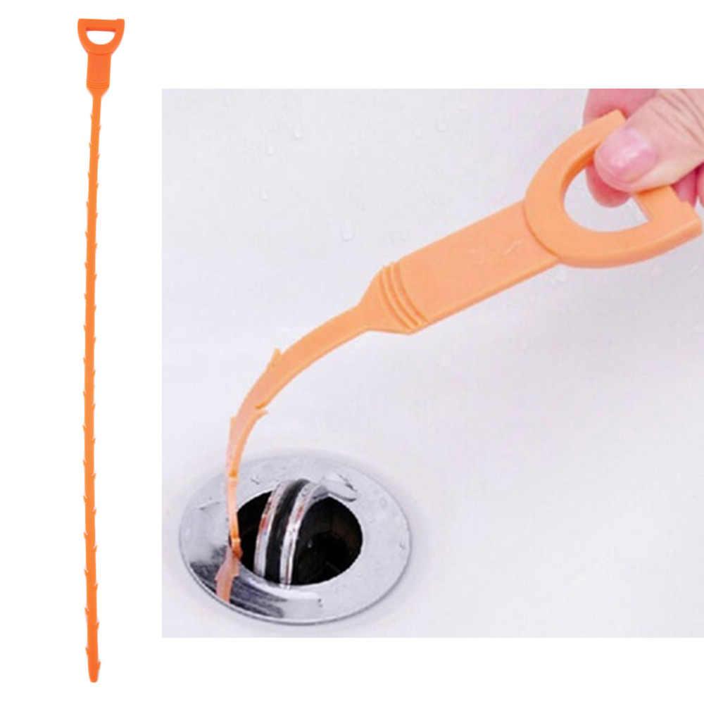 1 ピースヘビ型シンククリーナー浴室トイレ台所の排水削除詰まっ毛クリーニングホーム人気の新