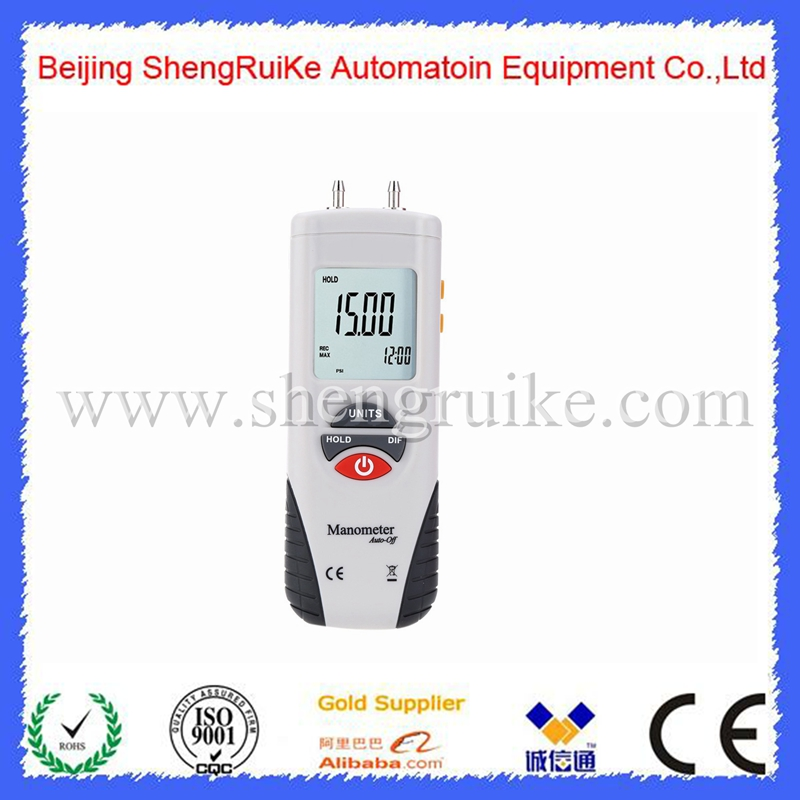 Pressure Gauge psi HT-1890 Portable LCD Digital Manometer  air pressure Differential Gauge Air Pressure Meter ht 1890 digital manometer air pressure meter air pressure differential gauge high performance lcd 55h2o to 55h2o data hold