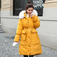купить Long Parka Women 2019 Winter Jacket Women Coat Big Fur Collar Thick Warm Wadded Parkas Outerwear Jacket Plus Size Female Coat по цене 2296.73 рублей