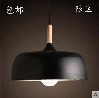 ФОТО Free shipping Wood + Aluminum Ceiling light bar restaurant bedroom Lamp Retro single head wood lamps