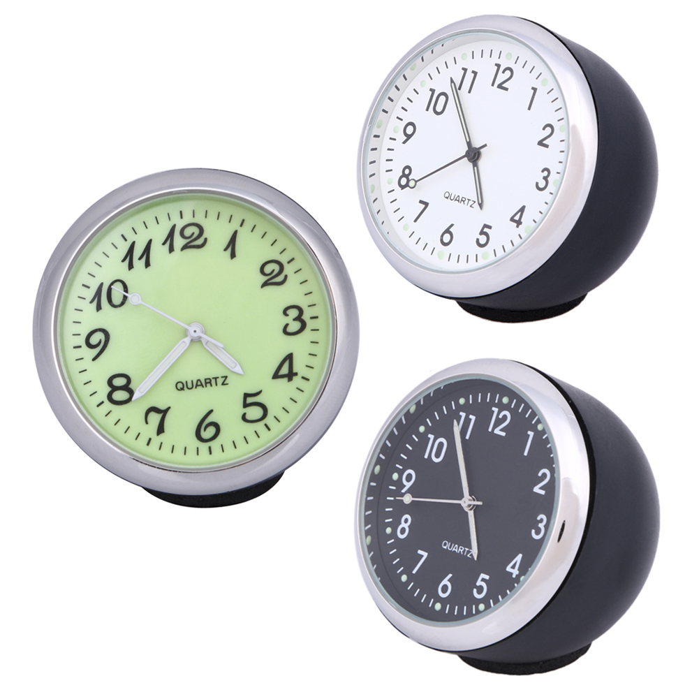 40mm Anti-Scratch שעון רכב מכני שעון קוורץ עם אור זוהר מיני Noctilucent שעונים שעונים עבור קישוט אוטומטי