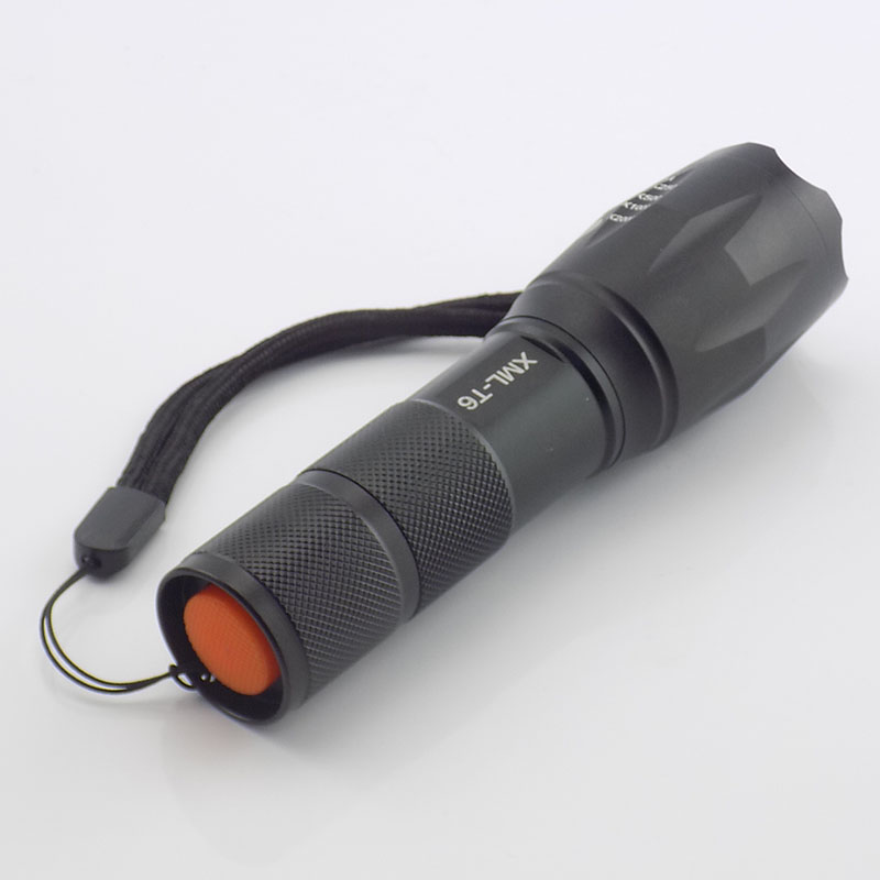 MINI Portable Flashlight Zoomable T6 LED flash lamp Adjustable foucus torch lanterna AAA or 18650 battery for fishing hunting