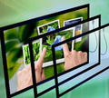 32 Inch multi infrared touch screen Panel with 6 touch points USB interface for TV/Display/Monitor