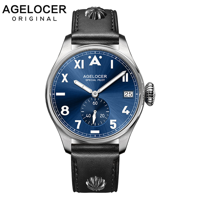 2019 Original Brand Agelcoer Luxury Automatic Mechanical Watch Genuine Waterproof Leather Strap 3102A1
