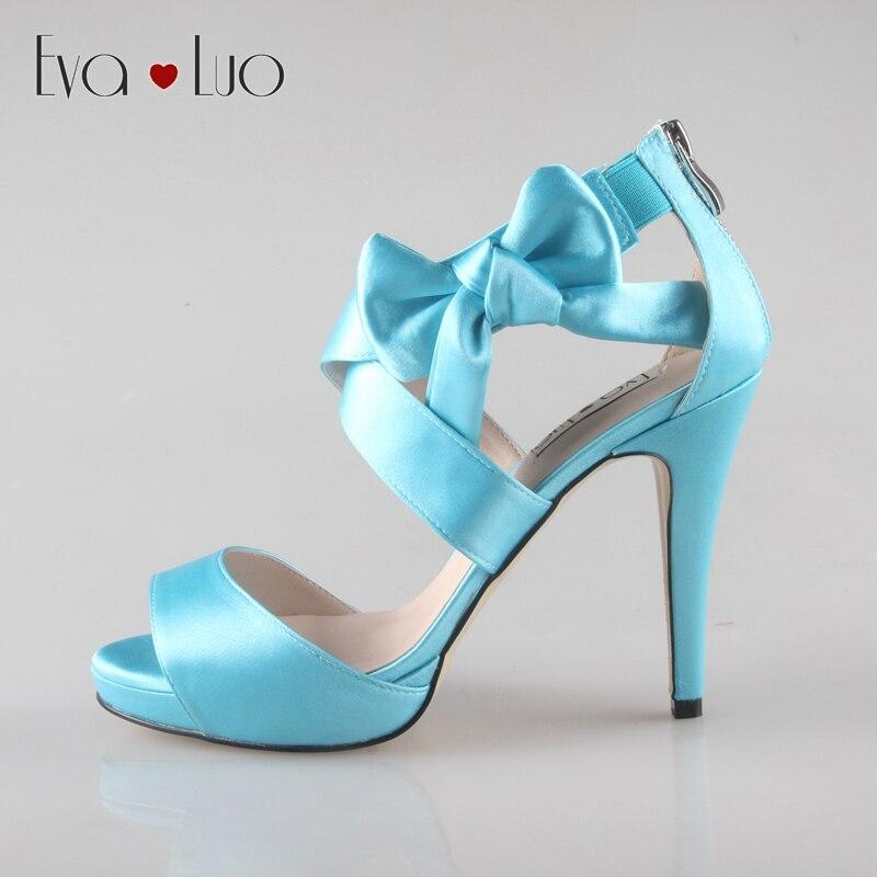 Aqua blue dress sandals