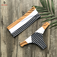 Ariel Sarah Brand 2017 High Waist Bikini Bandage Bathing Suit Women Bikinis Set Swimwear Women Swimsuit
