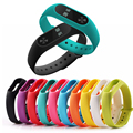 1 pcs xiaomi mi banda 2 correia de pulso cinta de silicone colorido pulseira para banda 2 banda inteligente pulseira para xiaomi mi 2 Accessorie