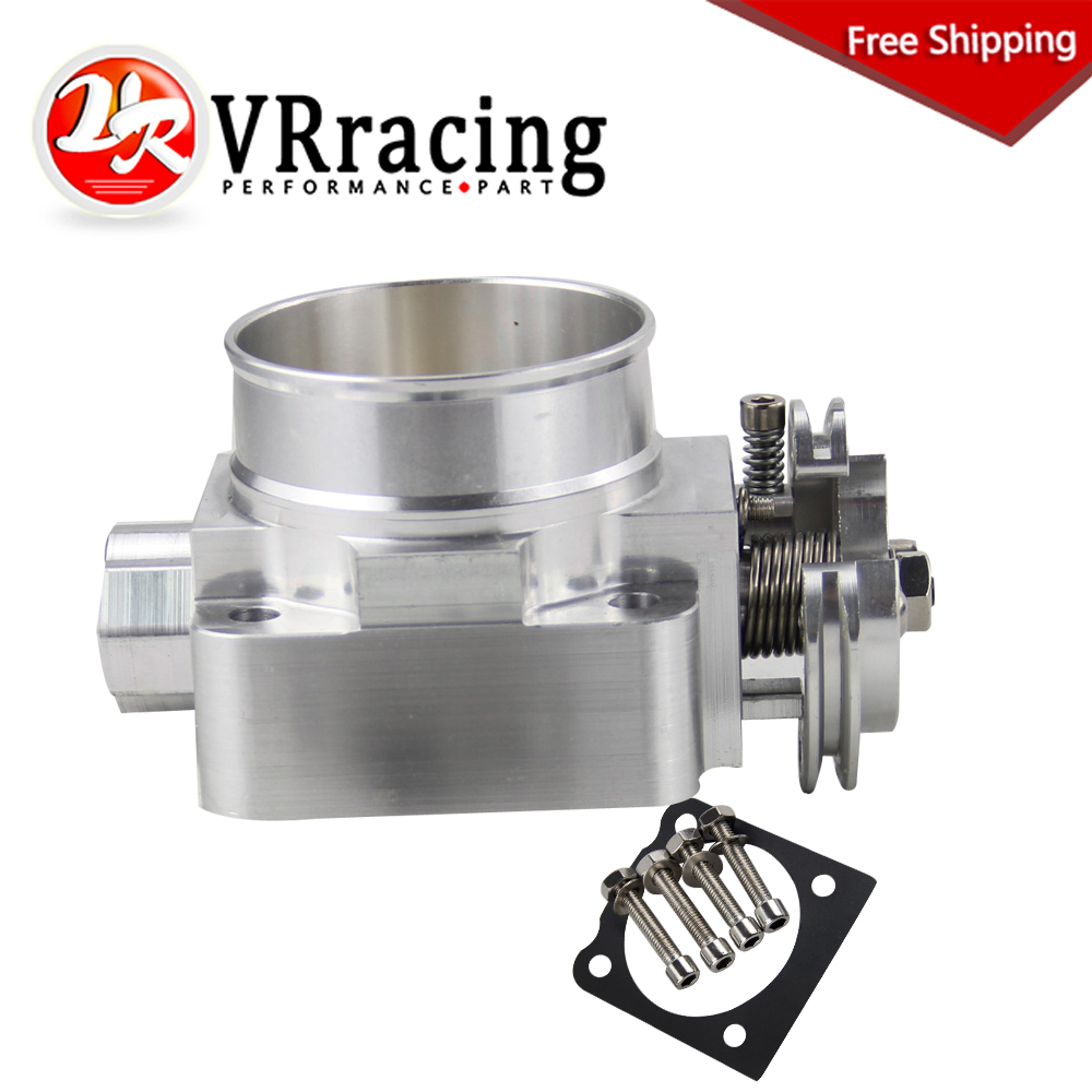 цены VR RACING - FREE SHIPPING THROTTLE BODY For Mitsubishi Evo 4 5 6 70mm Uprated Racing Billet NEW Throttle Body VR6941